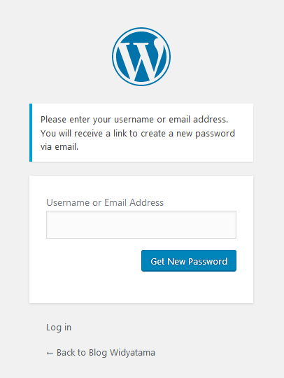 Lost Password WordPress