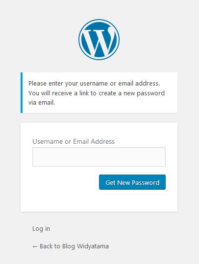 Lost Password WordPress